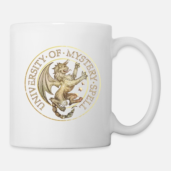 Love Mugs & Drinkware - Is It Love? UniversIty Of Mystery Spell - Mug white