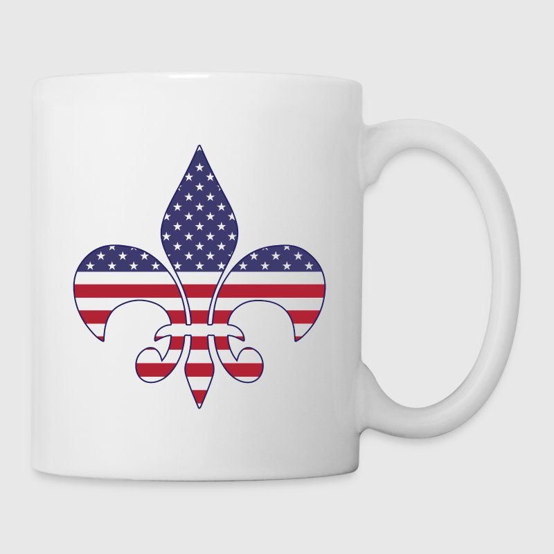 Patriotic American Flag Fleur-de-lis - Coffee/Tea Mug