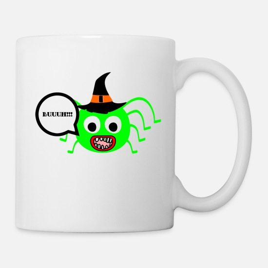 Gift Idea Mugs & Drinkware - scary spider - Mug white