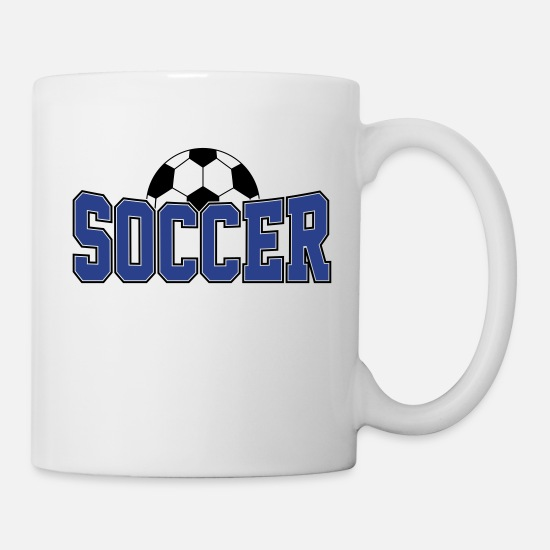Soccer Ball Mugs & Drinkware - Soccer Ball , Soccer Player, Soccer Ball - Mug white