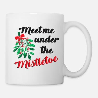 Couples Christmas Meet me under the Mistletoe - Mug