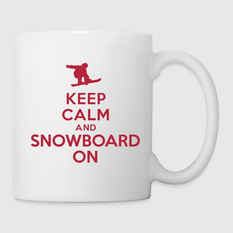Keep calm and snowboard on - Coffee/Tea Mug