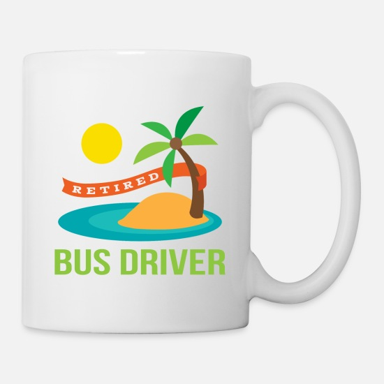 Retirement Mugs & Drinkware - Retired Bus Driver Retirement Gift - Mug white