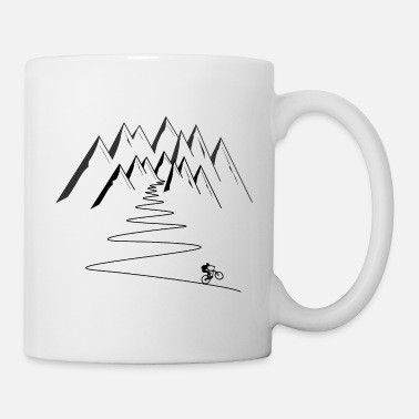 Mountain Biking mountain bike mountains cycling - Coffee/Tea Mug