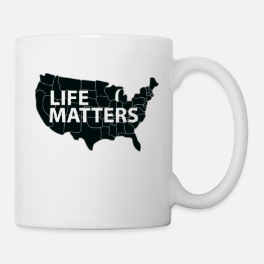 Black Lives Matter Life Matter - Black US Map - Coffee/Tea Mug