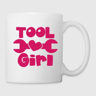 TOOL girl with spanner and a love heart - Coffee/Tea Mug