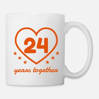 Anniversary Marriage Mariage Wedding Anniversary 24 Opal - Coffee/Tea Mug