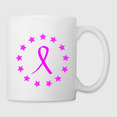 CA Ribbon-Pink Stars - Coffee/Tea Mug