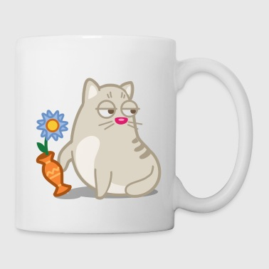 Cat Poking The Vase - Coffee/Tea Mug