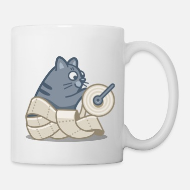 Paper Toilet Paper Cat - Coffee/Tea Mug