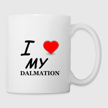 dalmation love - Coffee/Tea Mug