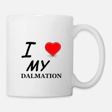 Love dalmation love - Coffee/Tea Mug