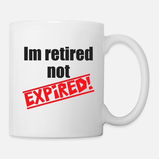 Retirement Mugs & Drinkware - retirement - Mug white