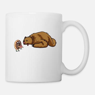 Horror BEAR HUNGY DONUT FANTASY KIDS GEEK - Coffee/Tea Mug