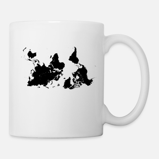 World Mugs & Drinkware - World Map - Mug white