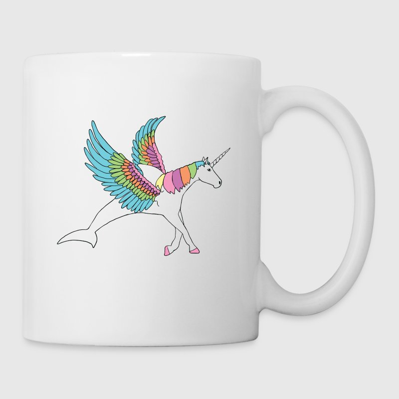 dolphin, pegasus, unicorn hybrid - Coffee/Tea Mug