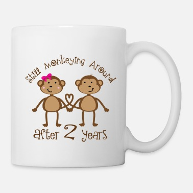 Anniversary 2nd Anniversary funny monkeys - Coffee/Tea Mug