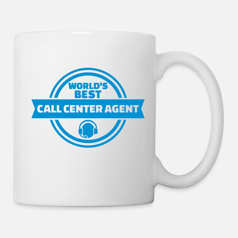 Agent Mugs & Drinkware - Call center agent - Mug white