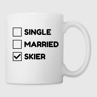 Ski Skiing Skier Ski de fond XC skiing Mountain - Coffee/Tea Mug