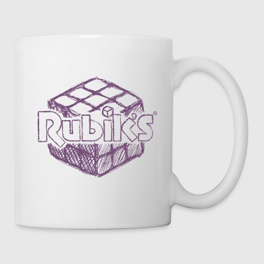 Rubik's Cube Hand Drawing - Coffee/Tea Mug
