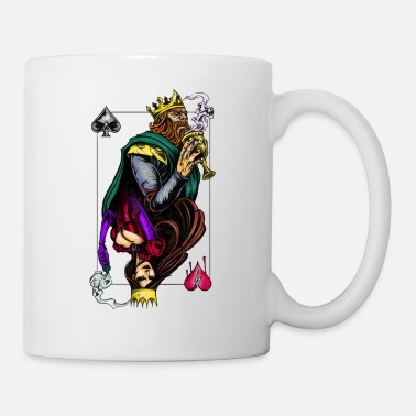Card king and queen - Mug