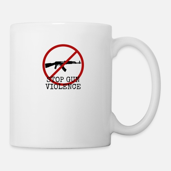 2nd Amendment Mugs & Drinkware - Anti Guns Stop Gun Violence - Mug white