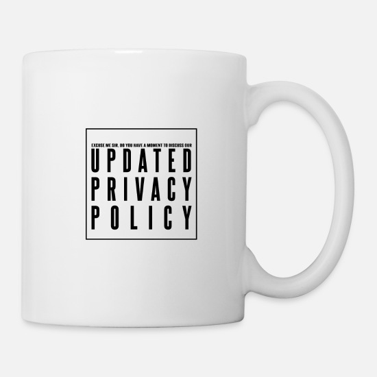 Website Mugs & Drinkware - Updated Privacy Policy Guidelines - Mug white