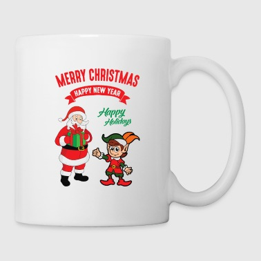 Christmas Xmas Elf Elves Santa Claus Nicholas - Coffee/Tea Mug