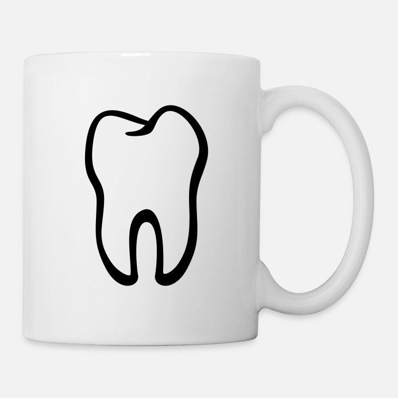 Dental Mugs & Drinkware - Tooth / Zahn / Dent / Diente / Dente / Tand - Mug white