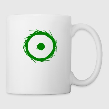 Alchemy symbol sun (gold) green - Coffee/Tea Mug