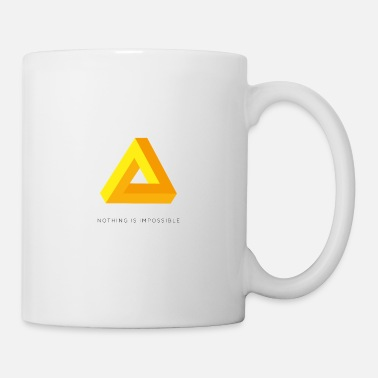 Optical Illusion triangle | nothing is impossible optical illusion - Coffee/Tea Mug