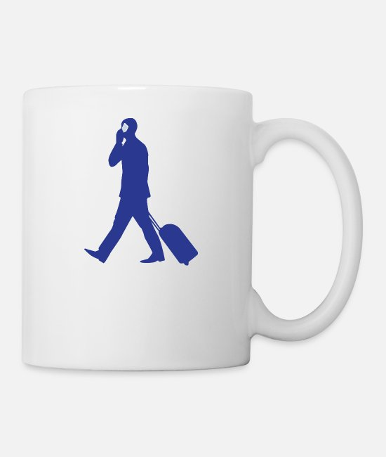 Dollar Mugs & Cups - businessman geschaeftsmann business money102 - Mug white