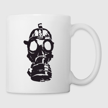 Gas Mask War Chemical Bombs Grenades Gift Present - Coffee/Tea Mug