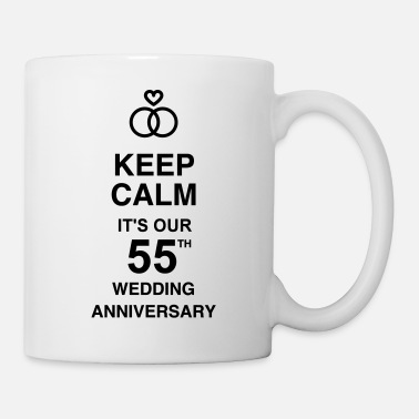 Anniversary Marriage Mariage Wedding Anniversary 55 Emerald - Coffee/Tea Mug