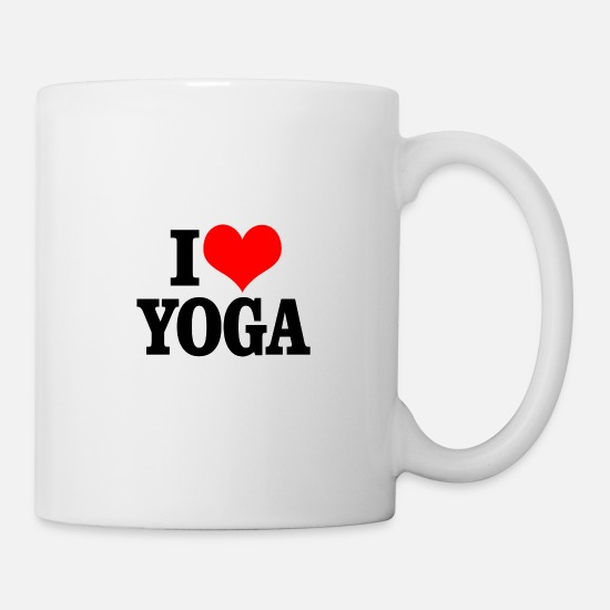 Gymnast Mugs & Drinkware - I love yoga - Mug white