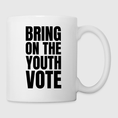 Democracy Text: Bring on the youth vote - Coffee/Tea Mug
