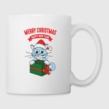 Winter Christmas Xmas Gifts Cat Kitten - Coffee/Tea Mug