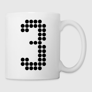 3, Numbers, Football Numbers, Jersey Numbers - Coffee/Tea Mug