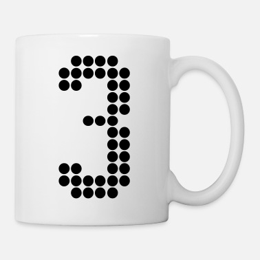 Jersey Number 3, Numbers, Football Numbers, Jersey Numbers - Coffee/Tea Mug