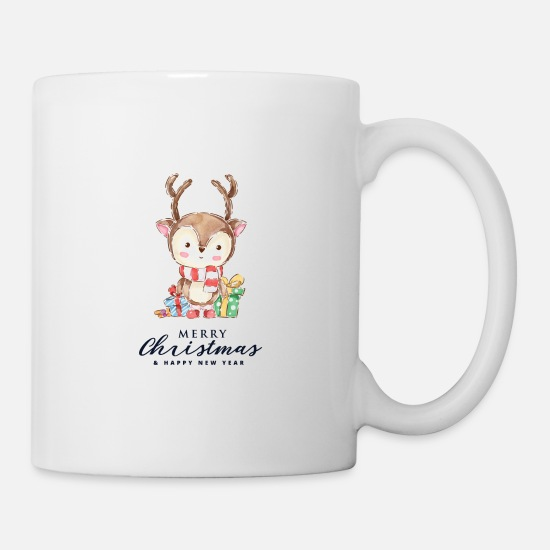 Merry Mugs & Drinkware - Merry Christmas my Deer - Mug white