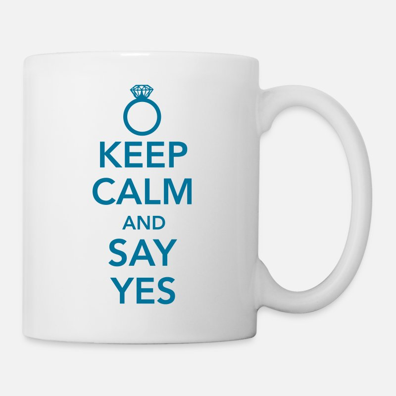 Bachelor Party Mugs & Drinkware - Keep calm and say yes - Mug white