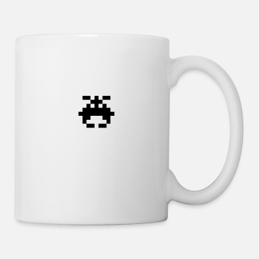 Alien Alien Raider (black): 8-bit with joint pixels UFO - Mug