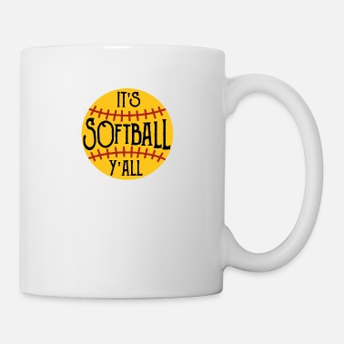 Softball Yall Ball Batter Base Hitter Catcher Gift - Mug