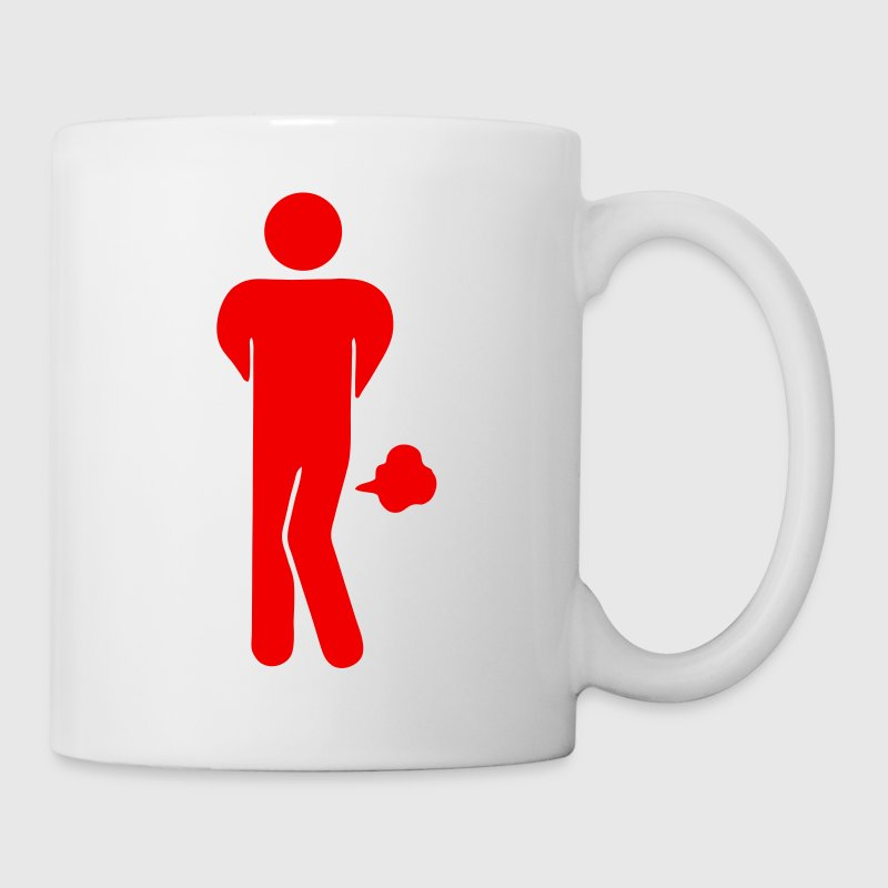 Funny Farting Restrooms / Toilet Sign 2 - Coffee/Tea Mug