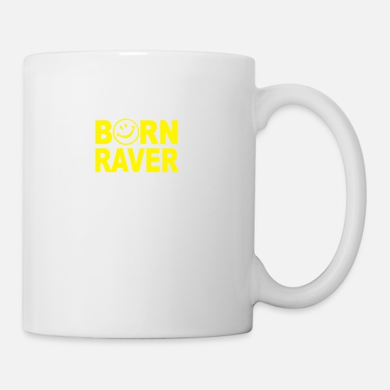 Raver Mugs & Drinkware - Born Raver - Mug white