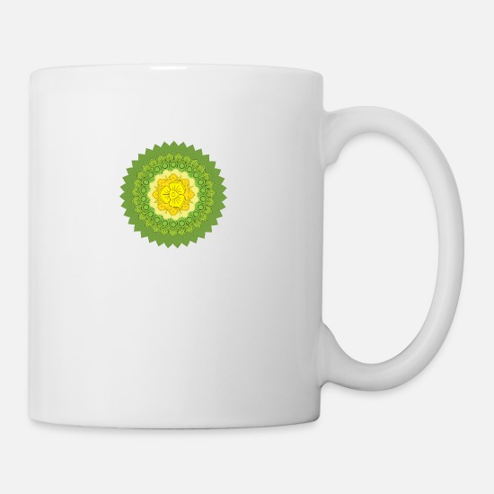 Pattern Mugs & Drinkware - Circular pattern in the form of a mandala - Mug white