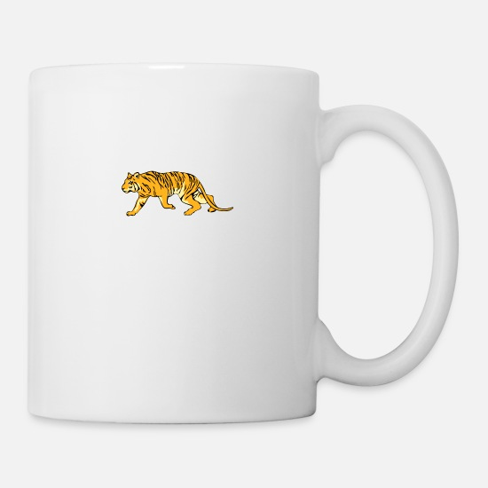 Saber Mugs & Drinkware - bengal tiger cat head sabre toothed86 - Mug white