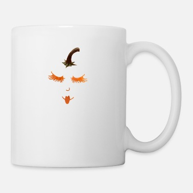 Eyelashes pumpkin eyelashes - Coffee/Tea Mug
