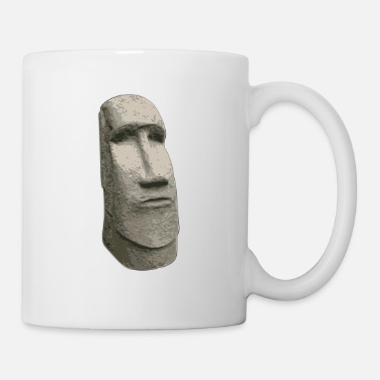 Brown stone easter island carved moai head mug spreadshirt