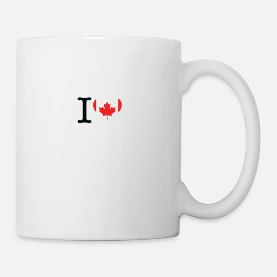Tim Mugs & Drinkware - I Love Canada - Mug white